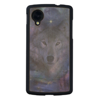 Wolf in the Moonlight Carved® Maple Nexus 5 Case