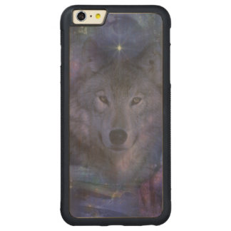 Wolf in the Moonlight Carved® Maple iPhone 6 Plus Bumper