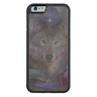 Wolf in the Moonlight Carved® Maple iPhone 6 Bumper Case