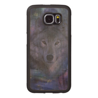 Wolf in the Moonlight Wood Phone Case