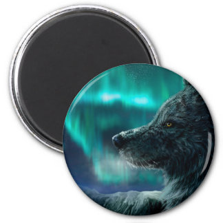 Wolf in the Night 2 Inch Round Magnet