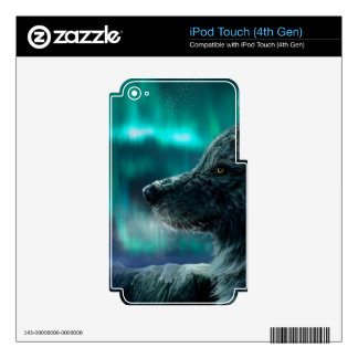 Wolf in the Night Skin For iPod Touch 4G