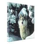 Wolf In The Snow Canvas Print