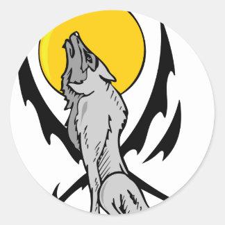 Wolf In The Wild Classic Round Sticker