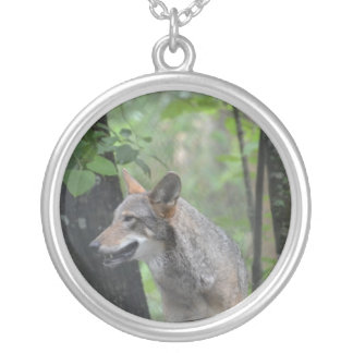 Wolf in the Wilderness Personalized Necklace