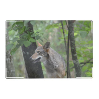 Wolf in the Wilderness Laminated Placemat