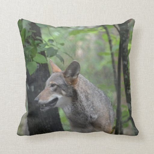 Wolf in the Wilderness Throw Pillows