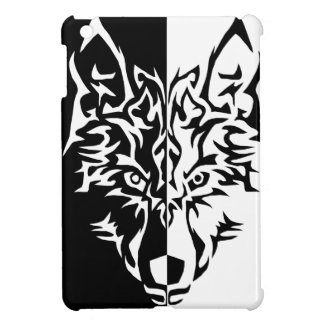 Wolf in Tribal Style iPad Mini Covers