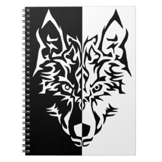 Wolf in Tribal Style Notebook