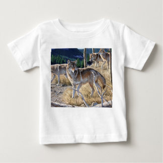 Wolf in winter forest baby T-Shirt