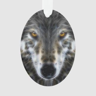 Wolf Inspirational design Portrait Ornament