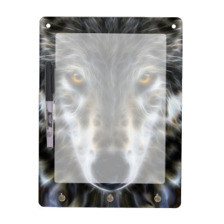 Wolf Inspirational graphic Portrait Dry Erase Board