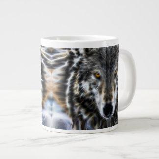 Wolf Inspirational graphic Portrait Large Coffee Mug