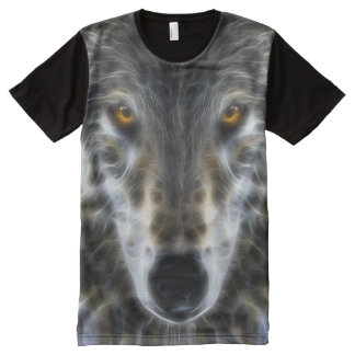 Wolf Inspirational Portrait All-Over-Print T-Shirt