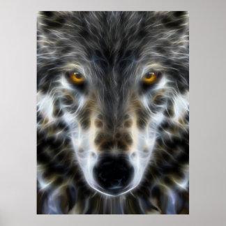 Wolf Inspirational Portrait Poster