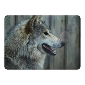Wolf 5x7 Paper Invitation Card