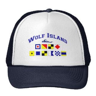 Wolf Island, GA w/ Maritime Flags Trucker Hat