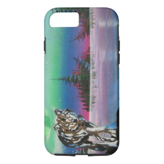 Wolf Island painting iPhone 7 Case