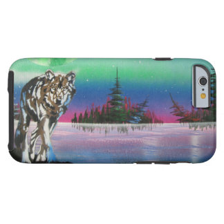 Wolf Island painting Tough iPhone 6 Case