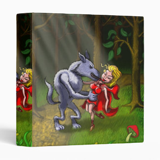 Wolf Kissing Red Riding Hood 3 Ring Binder