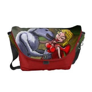Wolf Kissing Red Riding Hood Courier Bag
