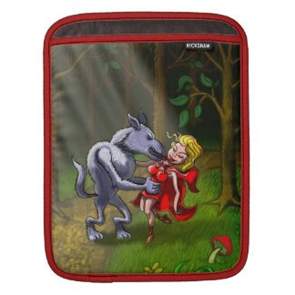Wolf Kissing Red Riding Hood Sleeve For iPads
