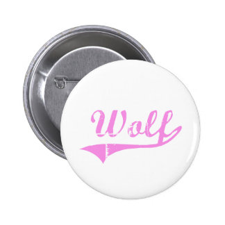 Wolf Last Name Classic Style Pinback Button