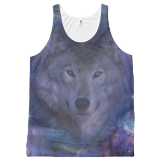 Wolf - Leader of the Pack All-Over Print Tank Top