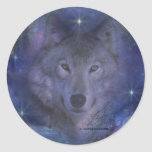 Wolf - Leader of the Pack Classic Round Sticker