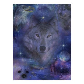 Wolf - Leader of the Pack Postcard