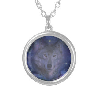 Wolf - Leader of the Pack Round Pendant Necklace