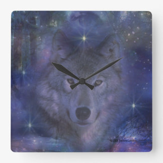 Wolf - Leader of the Pack Square Wall Clock