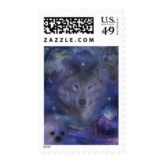 Wolf - Leader of the Pack Stamp
