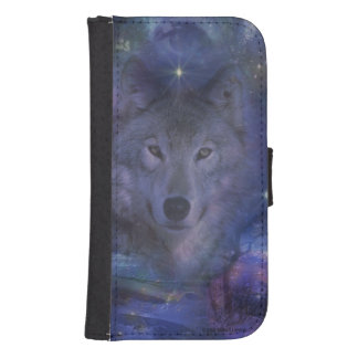 Wolf - Leader of the Pack Wallet Phone Case For Samsung Galaxy S4