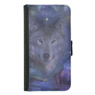 Wolf - Leader of the Pack Wallet Phone Case For Samsung Galaxy S5