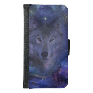 Wolf - Leader of the Pack Wallet Phone Case For Samsung Galaxy S6