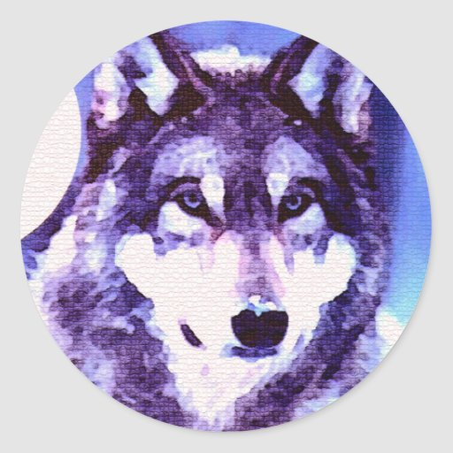 Wolf Look - Lonely Wolf Classic Round Sticker