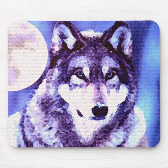 Wolf Look - Lonely Wolf Mouse Pad
