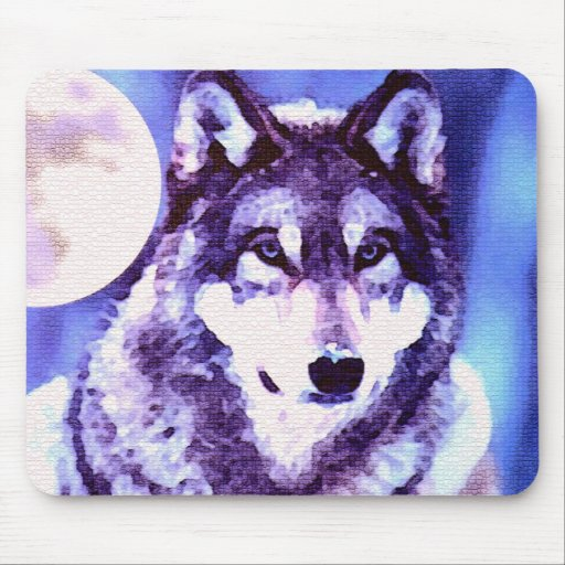 Wolf Look - Lonely Wolf Mouse Pads