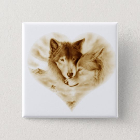 Wolf Love Button