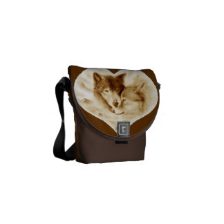 Wolf Love Courier Bag