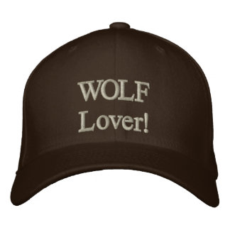 WOLF Lover! Embroidered Cap Embroidered Hats