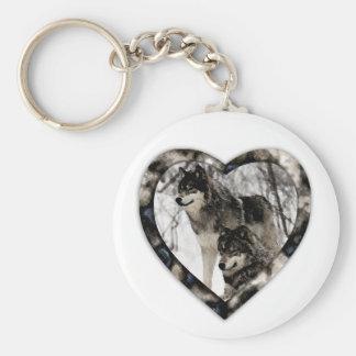 Wolf Lover Basic Round Button Keychain