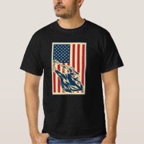 Wolf Lover Patriotic USA Flag T-Shirt