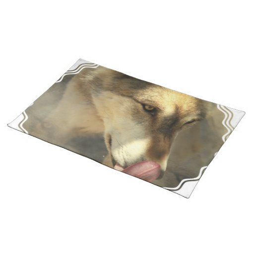 Wolf Lunch Placemat Cloth Place Mat
