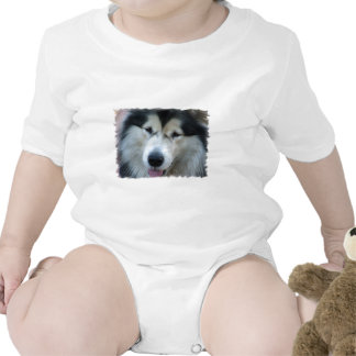 Wolf Malamute Picture Baby T-Shirt