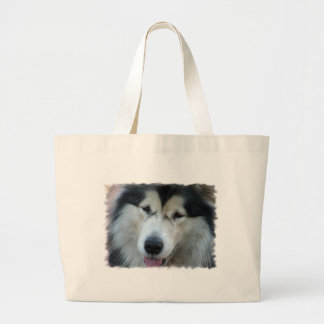 Wolf Malamute Picture Jumbo Tote Bag