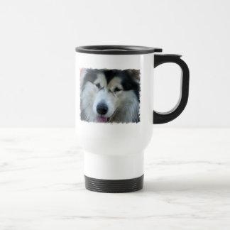 Wolf Malamute Picture Plastic Travel Mug