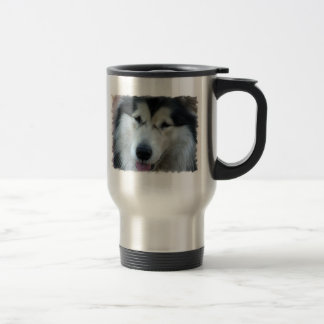 Wolf Malamute Picture Stainless Steel Travel Mug