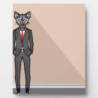 Wolf Man vector Plaque